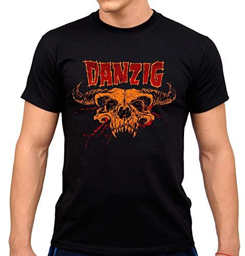 Danzig Herren T-Shirt Schwarz Schwarz  Gr. XL, Schwarz