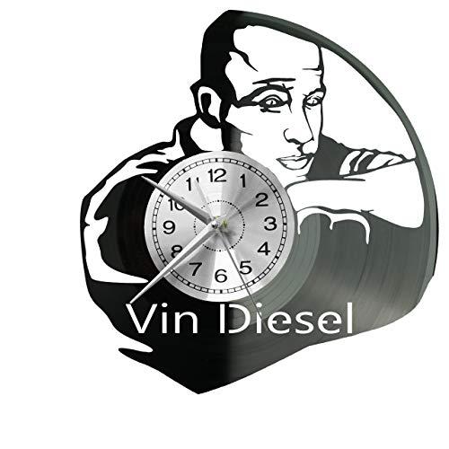 Reloj de pared Vin Diesel de vinilo, diseño retro, grande, ideal como...