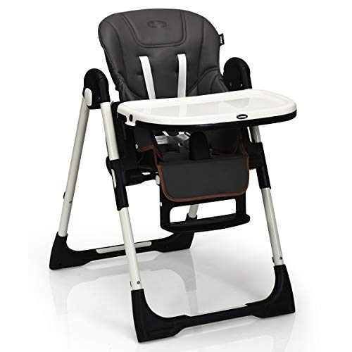 Great Price! INFANS High Chair for Babies & Toddlers, Foldable Highchair with Multiple Adjustable Ba...
