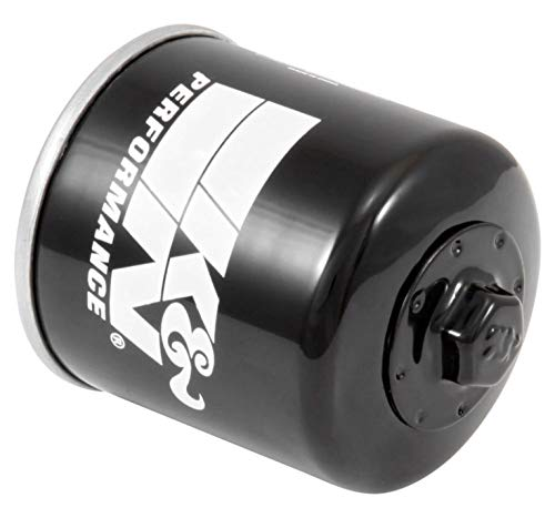 K&N Motorcycle Oil Filter: High Performance, Premium, Designed to be used with Synthetic or Conventional Oils: Fits Select Honda, Kawasaki, Triumph, Yamaha Motorcycles, KN-204-1