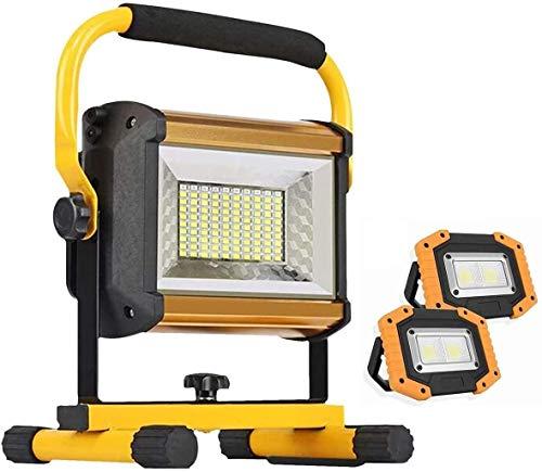 Foco Led Bateria Luz de iluminación LED 100W LED Portátil Luz de trabajo recargable  Proyector de seguridad al aire libre impermeable IP65 para la reparación de automóviles de emergencia Luz del sitio