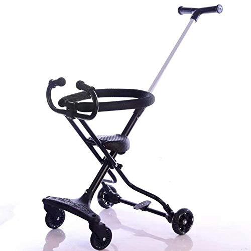 GSAGJyec Poussette pour bébé avec Pliage à Une Main, Poussette légère, Design en Une étape pour l'ouverture et Le Pliage, poignée de poussée à Hauteur réglable