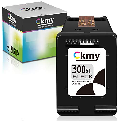 CKMY Remanufactured for HP 300 XL 300XL Druckerpatronen 1-Schwarz Tintenpatronen für HP Deskjet F4580 F4224 Envy 120 F4280 F4210 Photosmart C4780 100 F2480 F2420 110 C4680 114 F2400 F2492 F4500