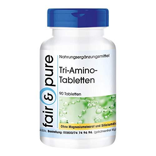 Tri-Amino-Complex - vegan - ohne Magnesiumstearat - 90 Tabletten - Aminosäuren-Komplex mit L-Arginin, L-Ornithin und L-Lysin