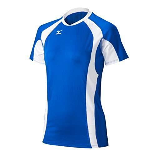 Mizuno Techno-Volleyball-Trikot für Damen, V-Ausschnitt, Damen, 440442.5200.02.XXS, Royal/Weiß, XX-Small