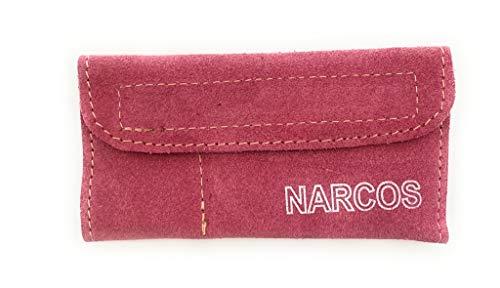 M&M Smartek Set da 7 pezzi per tabacco da fiuto Narcos con specchio, 2 dosatori, bacchette, tubi per tabacco da fiuto (rosa/rosa)