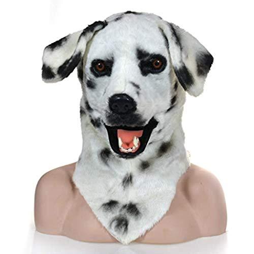 KEMANDUO Maske Hund Halloween-Kostüm-Hockey-Maske Männlich Weiblich Erwachsener Kind Horror Cosplay (Farbe: weiß)