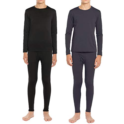 ViCherub Thermal Underwear Set for Boys Long Johns Fleece Lined Kids Base Layer Thermals 2 Sets Boy