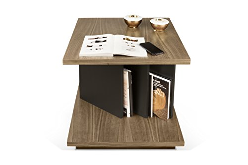 TemaHome Goa Table d'appoint, Noyer, Noir, 55 x 55 x 55 cm