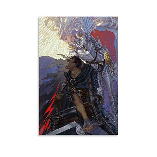 DFGGG Berserk Guts and Griffith Poster Poster Decorative Painting Canvas Wall Art Living Room Posters Bedroom Painting 08x12inch(20x30cm)