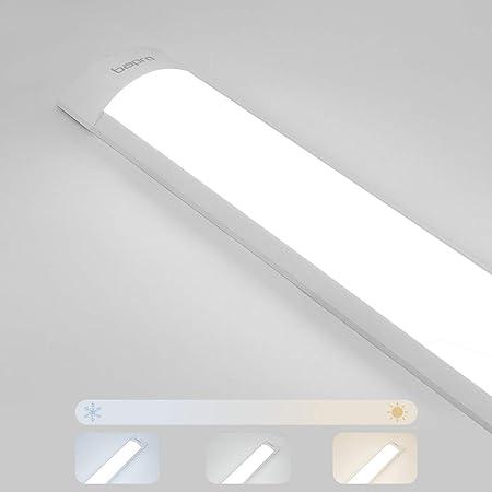 120cm Réglette Tube LED, 40W 4000LM Dimmable Plafonnier LED, Tubes Fluorescents LED Lampe, Luminaire Meuble pour Cuisine plafonnier de bureau pour bain Atelier Garage Cuisine Cave