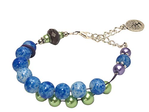 ht bracelets Life Tree Abacus Counting Bracelet Knitting Row Counter