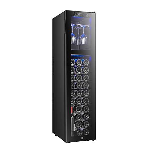 EVEN Wine Enthusiast Silent Wine Refrigerator con Control táctil, Rojo, Blanco, Enfriador de champán | Bodega de mostrador