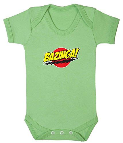 Badass Babies Bazinga Strampler Gr. 3-6 Monate, blassgrün