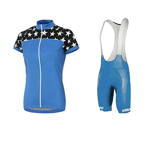 Uglyfrog Maillots Ciclismo Ropa de Ciclismo para Mujer Traje de Bicicleta Conjunto de Verano Top de Verano + Culotte Corto DTWX02F