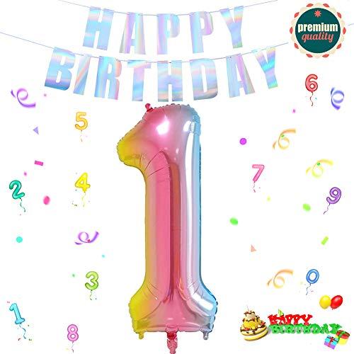 Folienballon Zahl in Farbe,Luftballon Zahlen,Riesige Folienballon,Zahl Geburtstagsdeko,Geburtstag Dekoration bunt,Folienballon im Zahlen-Design,Party Supplies Folienballon im Zahlen-Design (1)