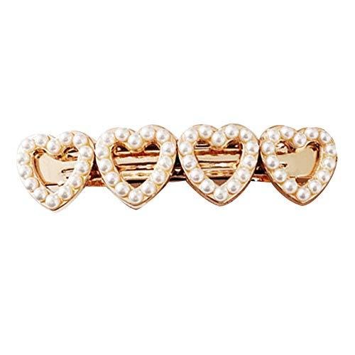 Homeofying Pince à Cheveux en Forme de cœur avec Fausses Perles pour Femme