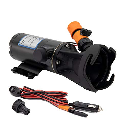 RecPro RV 12V Portable Macerator Pump | Quick Release | Sewage Chopper Pump | Waste Processing