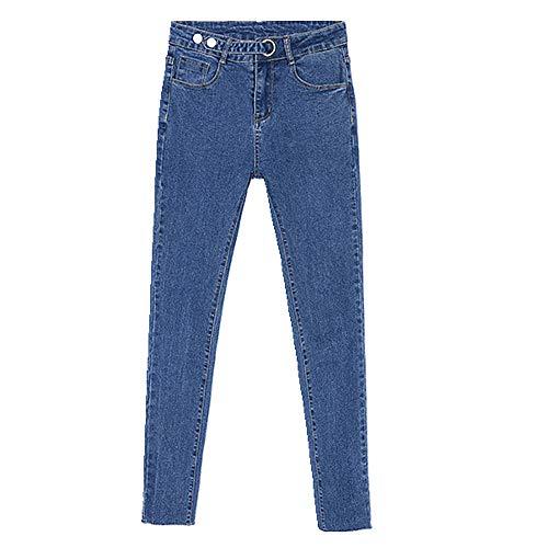 U/A Jeans Leggings de talle alto para mujer de primavera y otoño elásticos delgados y versátiles pantalones