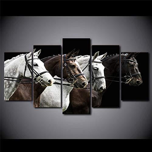 Diamante bordado negro y marrón carrera de caballos mosaico hecho a mano 5D Diy diamante pintura punto de cruz redondo DrillZP-3703