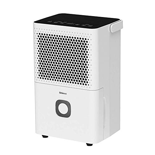 Shinco 1500 Sq.Ft Dehumidifier for Medium Room, Home, Basement, Bedroom, Bathroom, Auto or Manual Drain, Quietly Remove Moisture & Control Humidity