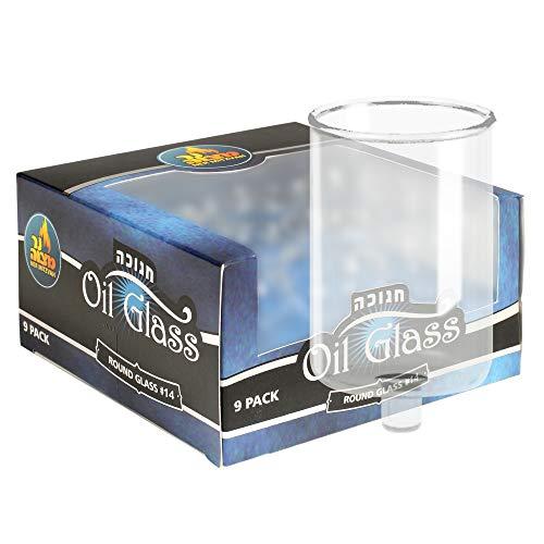vela en vaso de cristal de la marca Ner Mitzvah
