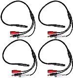 Piezas de repuesto para cortacésped Dispositivo de recogida de audio de 4 unids Micrófonos mini micrófonos mini para CCTV Cámara de seguridad de vigilancia para CCTV Accesorios para cortacésped