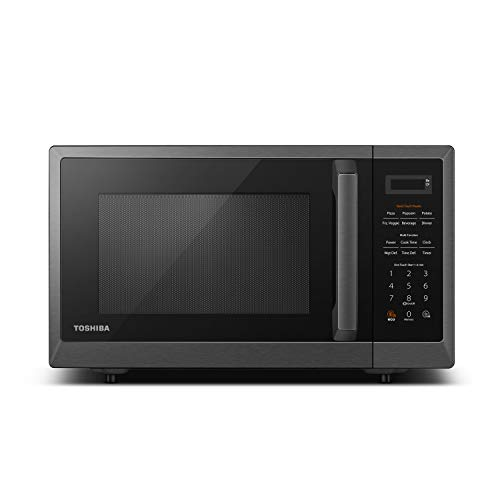 Toshiba ML2-EM12EA(BS) Microwave Oven with Smart Sensor, Position-Memory Turntable, Eco Mode, and Sound On/Off function, 1. 2Cu.ft/1100W, Black Stainless Steel, 1.2 Cu Ft