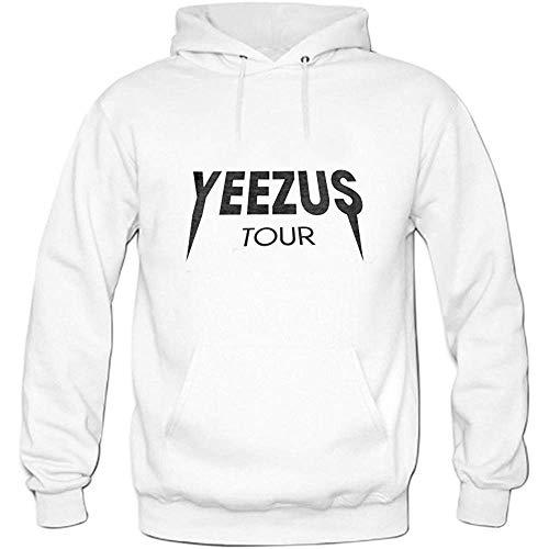 JAMES PERKINS Mens Yeezus Tour Pullover Sweater Hoodies White