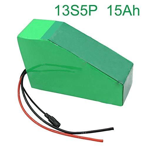 48V 15Ah 13S5P Li-ion Batería Bicicleta eléctrica E-Bike Ebike 235 * 200 * 145 * 70 * 45 * 70mm Aceptar personalización