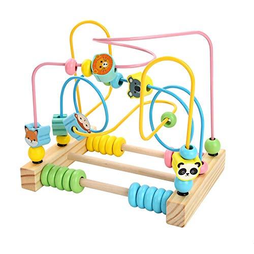 Laberinto Multifunción Marco del grano de la montaña rusa Laberinto de juguetes educativos cuentas del ábaco Círculo Cubo regalo de los juguetes del juego de colores Actividad Actividad de Madera Cube