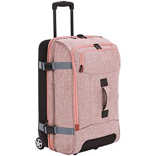 Amazon Basics - Reisetasche mit Rollen, Mittel, Lachs
