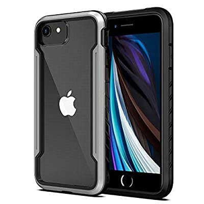 Aodh Compatible with iPhone SE 2020/iPhone 6/6s/7/8, Clear iPhone Cases with Edge Shockproof Protection, Military Grade Drop Tested TPU Protective Case for Apple iPhone 4.7 Inch (Black+Gray)