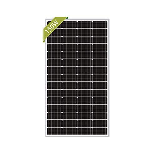 Newpowa 150 Watt Monocrystalline 150W 12V Solar Panel High Efficiency Mono Module RV Marine Boat Off Grid