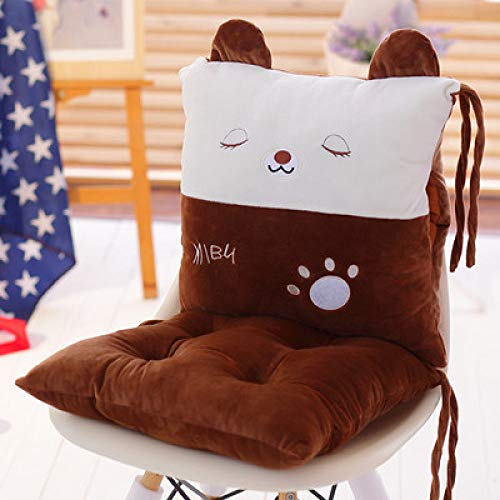 FKIHK SitzkissenNeue Nette Karikatur-Sofa-Dekoration-Auto-Wohnzimmer-rückseitiges Kissen-Starke weiche Sitzkissen-quadratische Stuhl-Kissen, schlafender Bär, ungefähr 40x80cm