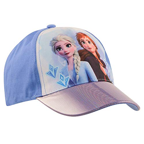 Disney Frozen Kids Hat, Elsa and Anna Baseball Cap for Girls Ages, Blue/Purple, Age 4-7