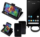 K-S-Trade® Hülle Schutz Hülle Für Carbon 1 MKII + Bumper Handyhülle Flipcase Smartphone Cover Handy Schutz Tasche Walletcase Schwarz (1x)