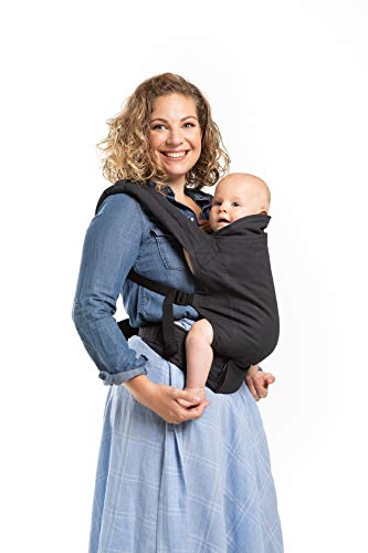 Boba Baby Carrier Classic 4GS - Organic Slate Backpack or Front Pack Baby Sling for 7 lb Infants and Toddlers up to 45 pounds