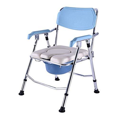 Hxx Chaise de Toilette Aluminium Soins de santé Chaise de Toilette Old Man Toilette Femme Enceinte Chaise de Bain Chaise de Toilette réglable