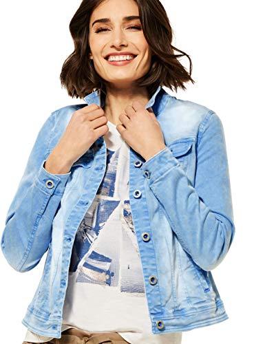 Cecil Damen Jeansjacke Übergangsjacke, Provence Blue, XXL