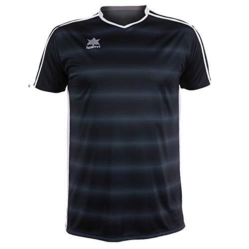 Luanvi Olimpia Camiseta de Fútbol, Hombre, Negro, L