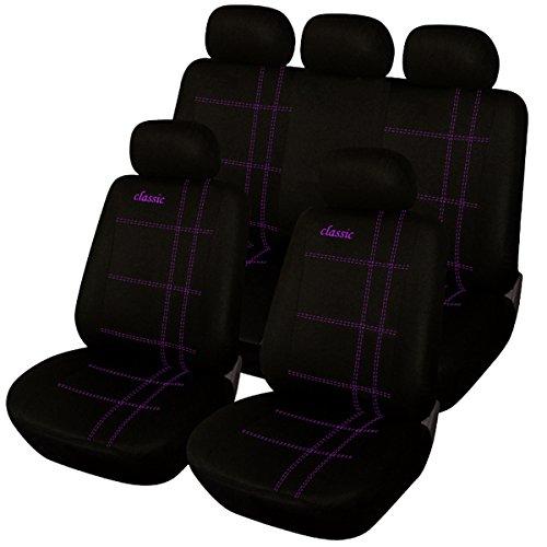 EUGAD 0027QCZT Autositzbezug Sitzbezüge Schonbezug Sitzschoner Schwarz-lila