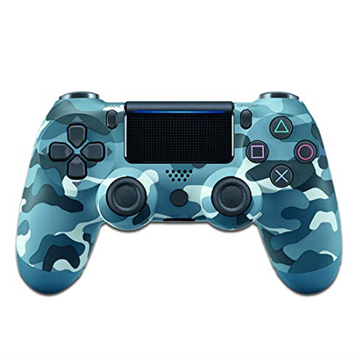 Xcmenl Wireless Controller für PS4 Slim/PS4 Pro,USB Controller für PC,Bluetooth Gamepad mit Dual-Vibration Audiofunktionen Playstation Controller Joystick - Blaue Tarnung