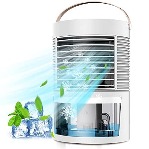 Mini Raffreddatore D'aria, Personale Condizionatori Raffrescatore Evaporativoa Air Cooler Ventilatore Evaporativo Umidificatore Purificatore