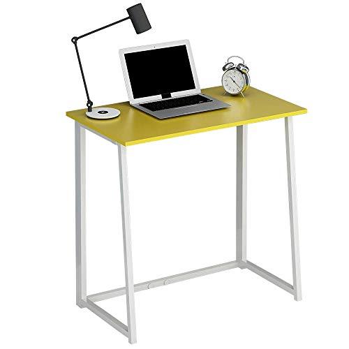 CherryTree Furniture Compact Foldable Computer Desk Laptop Desktop Table (Yellow)