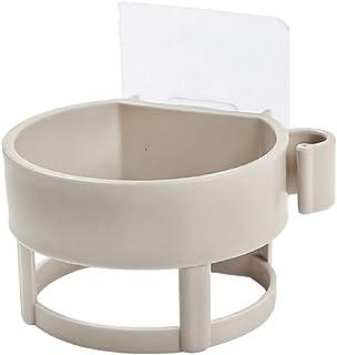 Ricky 浴室用ラック, ドライヤーホルダー 壁掛け ドライヤー ラック 浴室収納ラック お風呂場 キッチン 用品 丈夫 貼り付けるだけ (ベージュ)