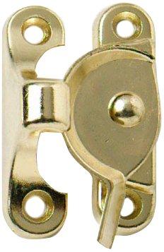 Bulk Hardware BH01749 Iltis-Verschluss-Galvanisch, vermessingt/Weiß, m