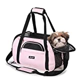 JESPET Soft Sided Pet Carrier Comfort for Airline Travel for Small...