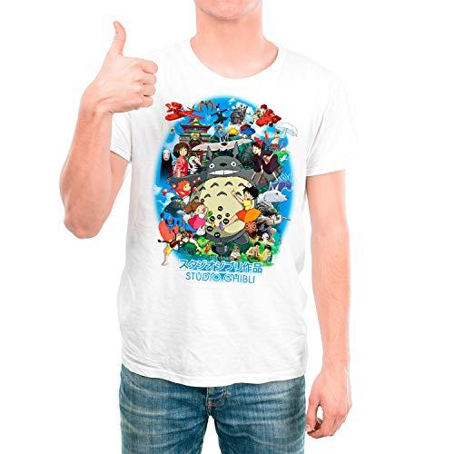 DibuNaif Camiseta Cine Animación Hombre - Unisex Studio Ghibli, Totoro