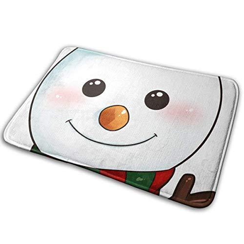 Balance-Life Snowman Home Doormats Unique Indoor Outdoor Mats Anti-Skid Bathroom Doormats Lovely Kitchen Mat-40x60cm